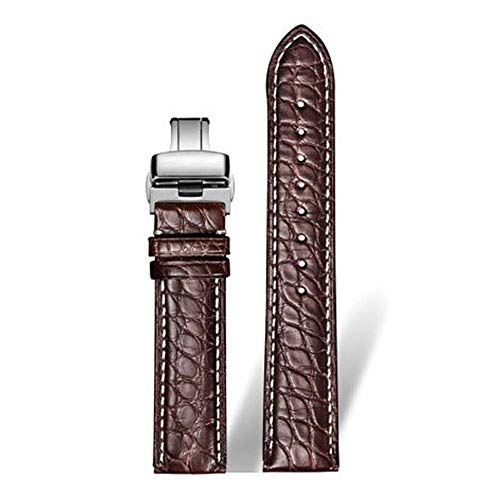 Leather Watch Band Wristwatch Strap Black Brown 18mm 20mm 22mm 24mm Men Women Watch Belt-8-Z1_21mm