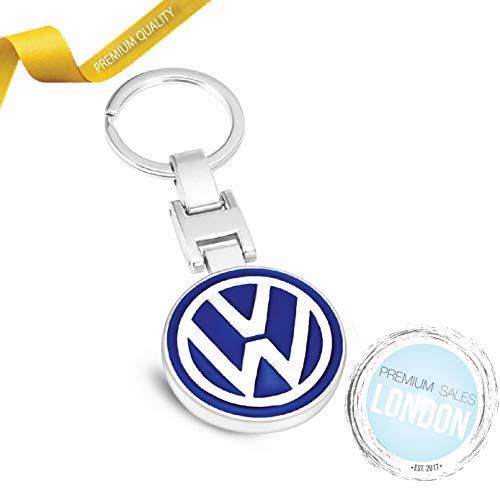 MIKAFEN Porte-cl/és en m/étal 3D avec Logo de Voiture pour BMW Mercedes Benz VW Audi for Benz