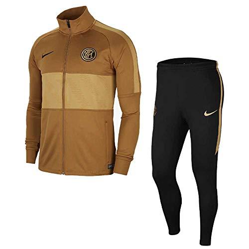 Nike Inter M Nk Dry Strk TRK Suit K Trainingsanzug für Herren, Muted Bronze/Black/Truly Gold/Black, 2XL