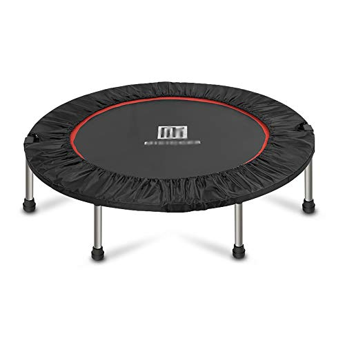 Zhao Li Indoor trampolines Fitness trampoline, Familie Aerobics, Veilig Kussen, Langdurige Advanced Rubber Band, Maximale belasting 330 lb, 40 Inch, Zwarte Kindertrampoline