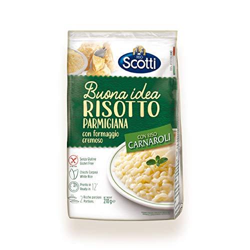 Riso Scotti Buona Idea Risotto alla Parmigiana - Carnaroli-Reis, glutenfrei, Risottoreis fertig in 15 Minuten, 210 g