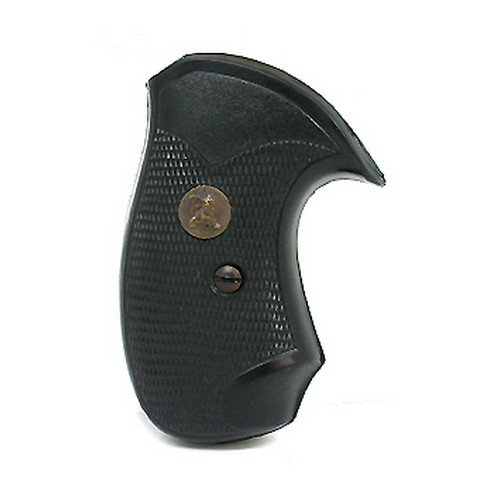 Pachmayr 03252 Compact Grips, S&W J Frame Round Butt,Black
