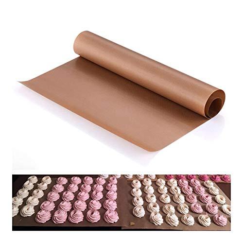 1 st hittebestendige PTFE plaat barbecue mat antikleef herbruikbare bakmat bakplaat document mat oven olie af te barbecue (Kleur : 40x30cm White)