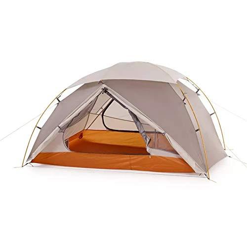 Vobajf Tienda de campaña para 2 personas de nailon para mochileros, tiendas de campaña de montaña, tiendas de campaña (color: gris, tamaño: 210 x 135 x 105 cm)