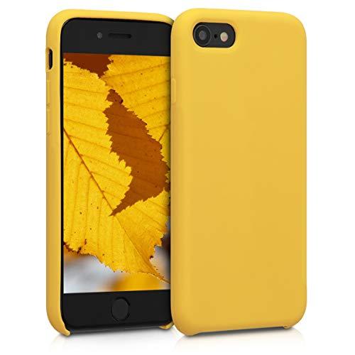 kwmobile Cover Compatibile con Apple iPhone 7 8   SE (2020) - Cover Custodia in Silicone TPU - Back Case Protezione Cellulare Miele
