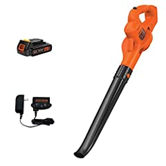Easily clears debris from hard surfaces like driveways, decks, and garages Air speed up to 130 miles per hour Operates on a 20V Max 1.5 Ampere hour Lithium Ion battery that holds its charge for up to 18 months.Noise rating (dB):61 Lightweight with a ...