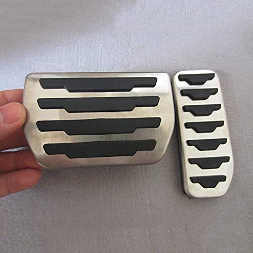 WXQYR 2pcs / Set Automóvil Metal Antideslizante Pie Car Gas Freno Cubierta del Pedal del Freno Pedal del Acelerador Pedal Kit AT Accesorios para Jaguar XE F-Pace