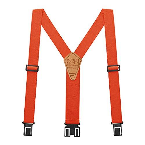 Perry Hook-On Belt Suspenders Regular - The Original - Orange - 2'W x 48'L