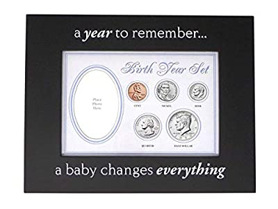2020 - Birth Year Coin Set in Blue Baby Picture Frame Holder Uncirculated