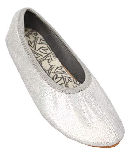 Beck Basic, Zapatillas de Gimnasia para Niñas, Plateado (Silber 15), 27 EU