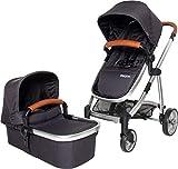 Osann 121-240-231 stroller combi - 1 as 3 is féidir - dubh foldable