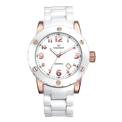 Reloj Viceroy Ceramica Y Zafiro 47630-95 Mujer Blanco