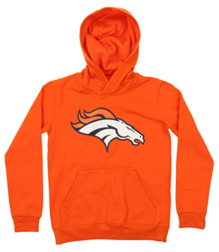 OuterStuff NFL Youth Boy's (8-20) Primary Logo Team Color Fleece Hoodie, Denver Broncos Small(8)