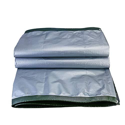 CLIOY dekzeil, afdekzeil, waterdicht en duurzaam bootzeil met oogjes voor auto, tuinmeubelen, zwembad, 180 g/m2
