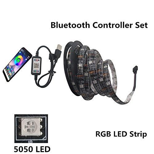 LED-Leiste USB LEDLampe mit5050 RGBflexiblemLEDLichtDC5V RGBFernseher Hintergrundbeleuchtung FarbvariableBluetoothControllerer