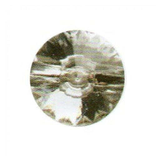 Ourlet rond avec des facettes-Bouton 15 mm-Transparent-Lot de 3