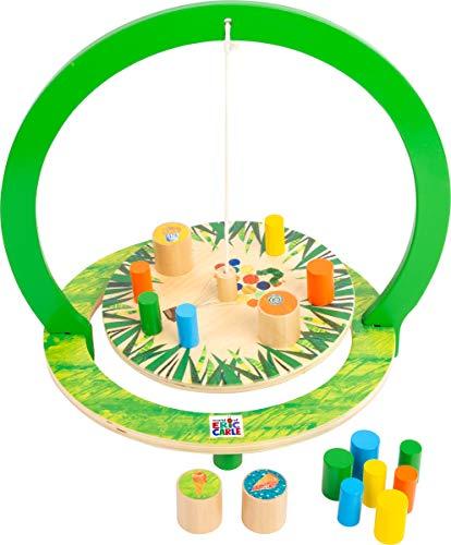 Small Foot 11428 d'équilibre la Chenille Qui Fait des Trous en Bois, Jeu de société pour Enfants et Adultes Jouets, Multicolore