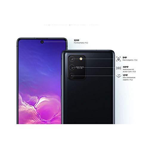 Samsung Galaxy S10 Lite Android Smartphone ohne Vertrag, 4.500 mAh Akku, Schnellldaden, 6,7 Zoll Super AMOLED Display, 128 GB/8 GB RAM, Dual SIM, Handy in schwarz, deutsche Version