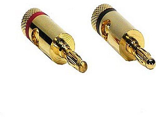 Audio - Bananenstecker, -> 10,0mm² (7AWG) ROT + SCHWARZ