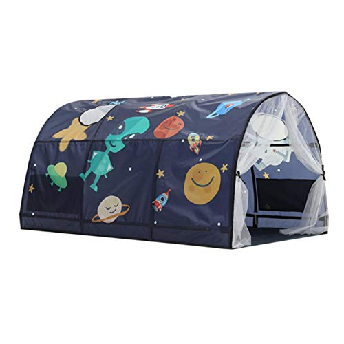 Space World Play Tents, Starry Sky Dream Bed Tents, with Inner Pocket for Both Boys and Girls Kids Fun Game with Friends, Bedroom Decor, Outdoor Camping, Indoor Games, Reading