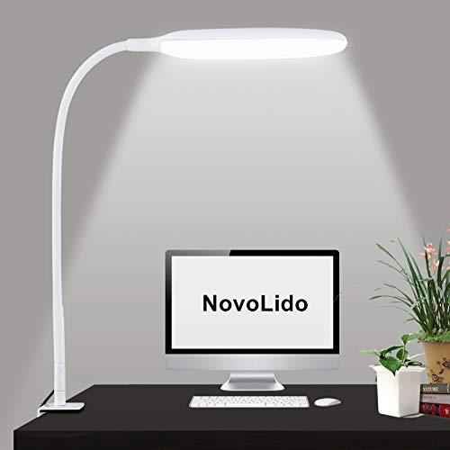 lampada potente NovoLido - 10W Lampada da Scrivania a LED con Morsetto