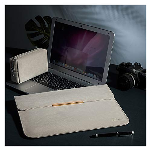 WSGYX Laptop Sleeve Bag Laptop Case For MacBook Pro 13 Inch MacBook Air Waterproof Bag For Surface Pro (Color : Light Gray, Size : HW MateBook 14)