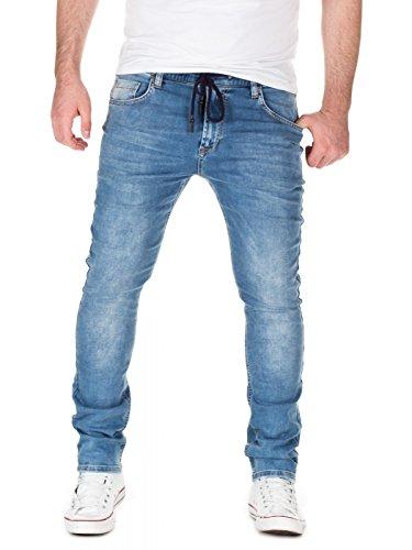Yazubi Herren Sweathose in Jeansoptik Skinny Fit, Light Blue (20032), W28/L34
