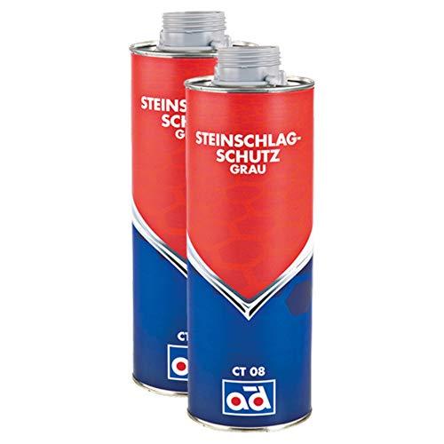 AD Chemie 2X Steinschlagschutz Ct 08 1l Grau Schutz Steinschlag Spray Karosserie Heckschürzen Dickflüssiges 029712brca