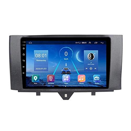 BIEKANNM Android 8.1 Bluetooth Car Stereo Lettore Multimediale Touch Screen da 9 Pollici per Benz Smart 2011-2015, Video 1080P/Wifi/telecamera Posteriore/Bluetooth/SWC,8core-WiFi: 4+64G
