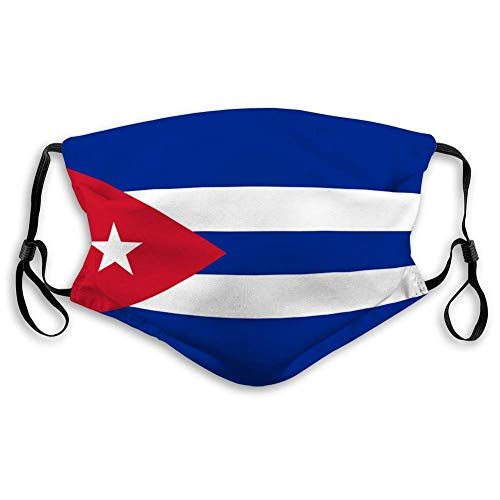 Staubschutz, Mundschutz Waschbare und Wiederverwendbare Polyesterabdeckungen mit Kuba-Flagge