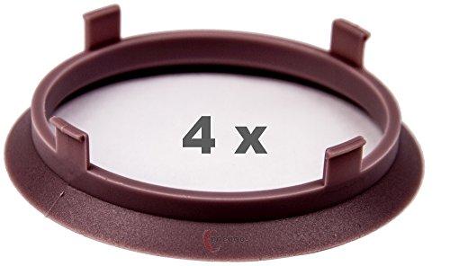 4 x pneugo! Bagues de centrage pour jantes alu 70.1 mm - 65.1 mm