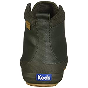 Keds Women's Keds Scout Boot Matte Canvas Ankle Boot, Olive, 8.5