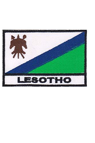 Aufnäher mit Lesotho-Flagge, bestickt, zum Aufbügeln, Souvenir-Zubehör