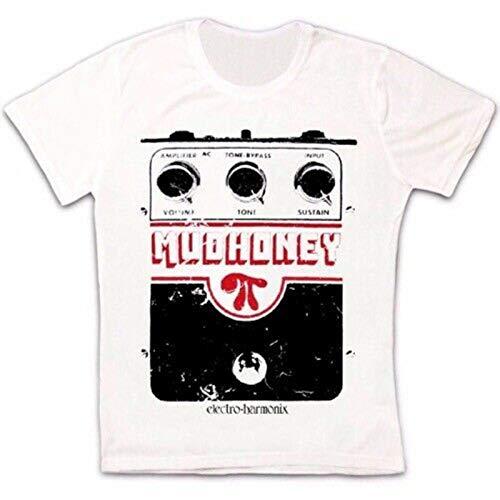 YUKINO Mudhoney Elctro Harmonix Superfuzz Vintage Unisex Retro T Shirt-3XL,White/Women's
