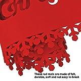 HOWAF Frohe Weihnachten Rentier Schneeflocke Tischläufer Rot Weihnachts Tischband Tischdecke für tischdeko Winter Weihnachtsdeko, Filz, (38 × 180 cm) - 2