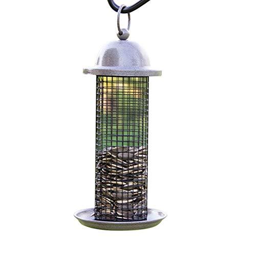 GAODINGD Comederos para pájaros Alimentador de Aves Mini alimentador con Percha para Aves Silvestres alimentador de Semillas alimentador de maní,Mezclas mezcladas