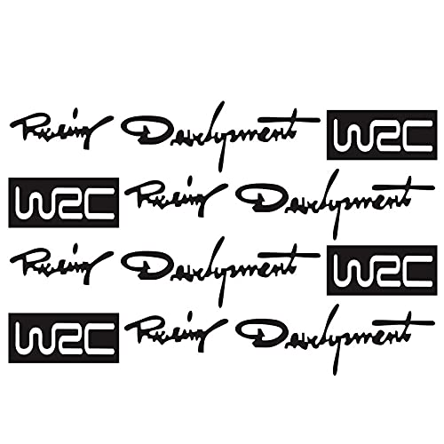 Pegatinas Divertidas 4PCS Coche Estilo Moda Creativo Auto Decorativo Decorativos Desarrollo Mundial Racing Desarrollo WRC Puerta de Coche Manija Vinilo Carrocería Cuerpo 12 cm * 2 cm
