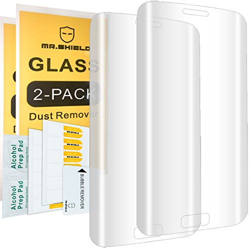 [2-Pack]-Mr.Shield for SamsungGalaxyS6Edge[FullCoverage][CurvedEdgeCover] [Tempered Glass] Screen Protector with Lifetime Replacement