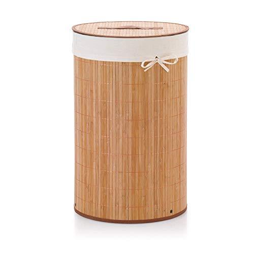 Kela 20983 panier à linge rond, bambou, hauteur : 63 cm, naturel, 'Mila'
