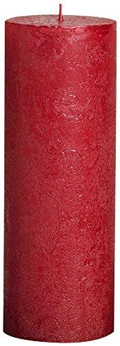 Bolsius Högstrukturerad pelarljus i metallisk rött