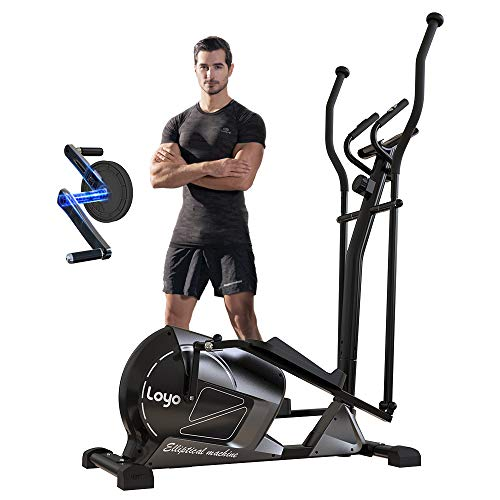 Loyo Magnetic Elliptical Machine for Home Use,Elliptical Training Machine with 8 Levels Adjustable Resistance LCD…