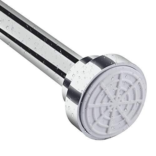 GENNISSY Adjustable Tension Shower Curtain Rod (49-86 Inch) Now $14.99