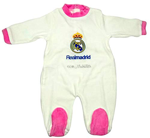 Pelele Niña Real Madrid Rosa 1-12 Meses