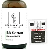 Niacinamide 5% Vitamin B3 Serum- 1 Fl. Oz.- Anti-Aging Face Cream That Tightens Pores, Reduces Acne Scars and Wrinkles, Boosts Collagen & Repairs Skin - Niacinamide Serum for Face