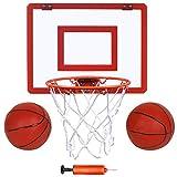 Indoor Mini Basketball Hoop and Balls 16 'x12 - Basketball Hoop for Door Set - Indoor Mini Basketball Game for Kids