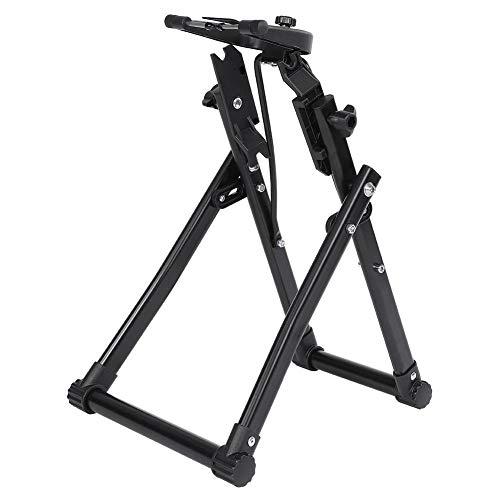 Soulong Opvouwbare fietstrainer voor fiets, van aluminiumlegering, zwart, geschikt voor monteurs thuis en monteurs