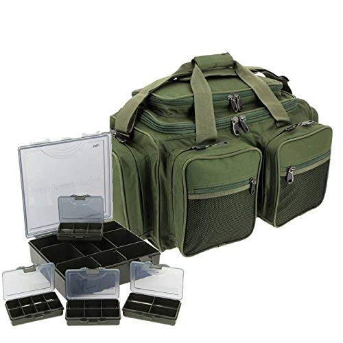 NGT DELUXE CARP FISHING MULTI POCKET CARRYALL HOLDALL TACKLE BAG & TACKLE BOX LUGGAGE SET XPR