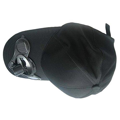 MagiDeal Solarventilator Hut Kappe für Golf Camping Angelsport fast alle Outdoor Sport Solar Baseball Cap mit Mini-Ventilator Outdoorsport Sonnenhut Unisex