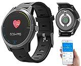 Newgen Medicals Smartwatch: Fitness-Uhr mit Bluetooth, Herzfrequenz- und EKG-Anzeige, App, IP67 (Fitness Uhr mit EKG Funktion)