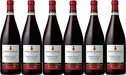 Weinkellerei Hohenlohe Fürstenfass Lemberger mit Trollinger QW halbtrocken (6 x 1L)